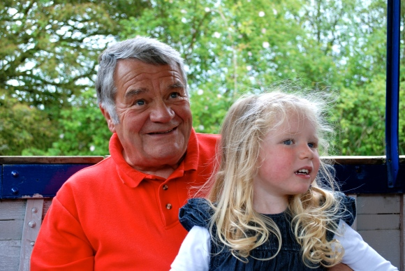 Becky's daughter Chloe and father Ray pictured together just days before he fell ill