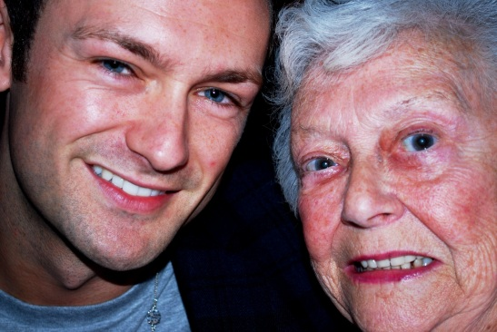 My grandma and me partying with gin and tonics