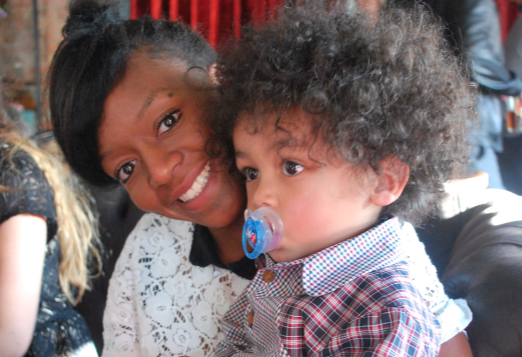 Desreen and Jackson pictured together on his second birthday, just weeks before she was killed