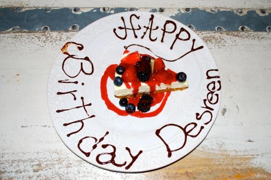 33, Shoreditch House birthday cheesecake.
