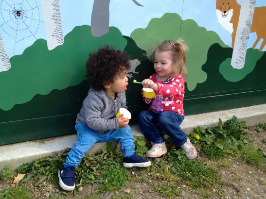 Best friends: Jackson and Annalise even share their ice creams